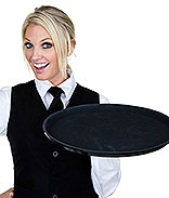Pick-up tips from waiters and waitresses